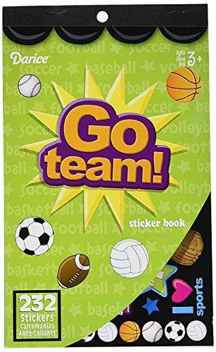 Darice 232-Piece, Go Team Themed Sticker Book (3-Pack)]()