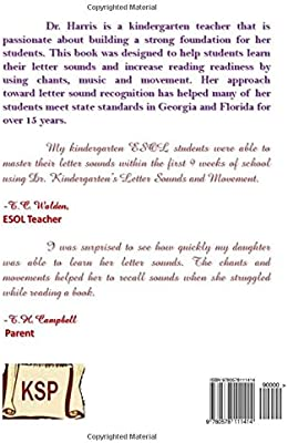 Dr  Kindergarten's Letter Sounds and Movements: Dr  Anika Harris