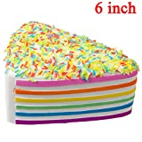 WATINC 1 pcs 6 inch JUMBO Kawaii Rainbow Cake Squishy Cream Scented Slow Rising large Kawaii Squishy Charms, Hand Pillow Toy, Stress Relief Toy Toy hop props, decorative props Large(Rainbow Cake)