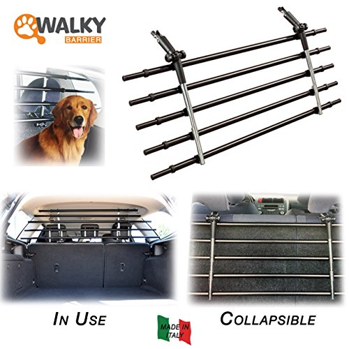 Walky Barrier, K9 Auto Guard Barrier, Foldable Auto Pet Barrier, Adjustable Car Barrier for Pet Automotive Safety ()