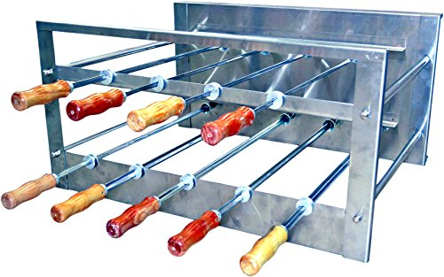 Brazilian BBQ Charcoal Grill - 09 Skewers - Rotisserie System - Residential by Oca-Brazil