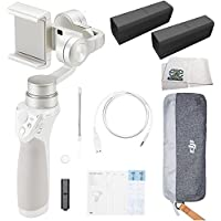 DJI OSMO M Mobile Handheld Stabilized Gimbal for Smartphones (Silver) Essentials Bundle