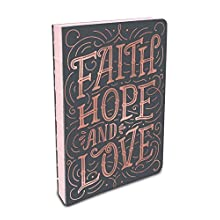 Studio Oh! Hardcover Medium Coptic-Bound Journal Available in 10 Designs, Stacy H. Kim Faith, Hope, Love