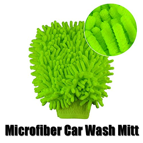 Microfiber Car Cleaning Wash Mitt Glove Cloth For Car Truck Boat or Motorcycle