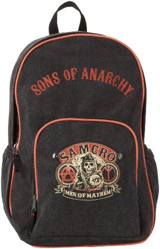 sons of anarchy men s samcro backpack black one size. Black Bedroom Furniture Sets. Home Design Ideas