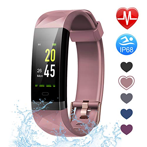 Letsfit Fitness Tracker HR, Activity Tracker Color Screen, Heart Rate Monitor, Sleep Monitor, Step Counter, Calorie Counter, Pedometer IP68 Smartwatch for Kids Women Men