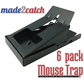 made2catch One Click Mouse Trap - 6 traps – Unique Adjustable Trigger Sensitivity - Easy Set Snap Trap - Mice and Small Rodents Control - Humane Mouse Traps that Work