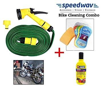 Speedwav Bike Cleaning Kit Water Spray Gun Abro Shampoo Magic