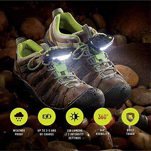 (Night Tech Gear Night Trek 270 Shoe Lights for Trail Running, Camping and Mountain Biking - The Original, Patented Shoe Lights)