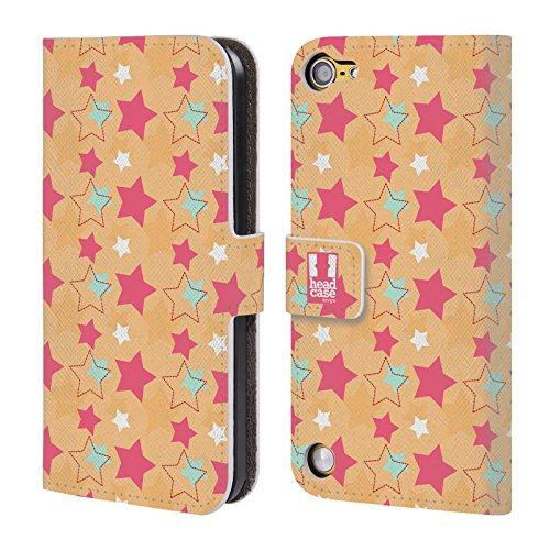 Head Case Cielo DAutunno Pattern Di Stelle Cover telefono a portafoglio in pelle per Apple iPod Touch 5G 5th Gen / 6G 6th Gen
