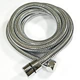 KES I3250 Extended Length Replacement 100-Inch OR 2.5-Meter Stainless Steel Interlock Handheld Shower Hose, Chrome
