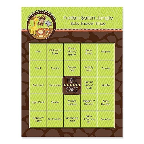 Funfari - Fun Safari Jungle - Baby Shower Game Bingo Cards - 16 (Baby Shower Safari Games)