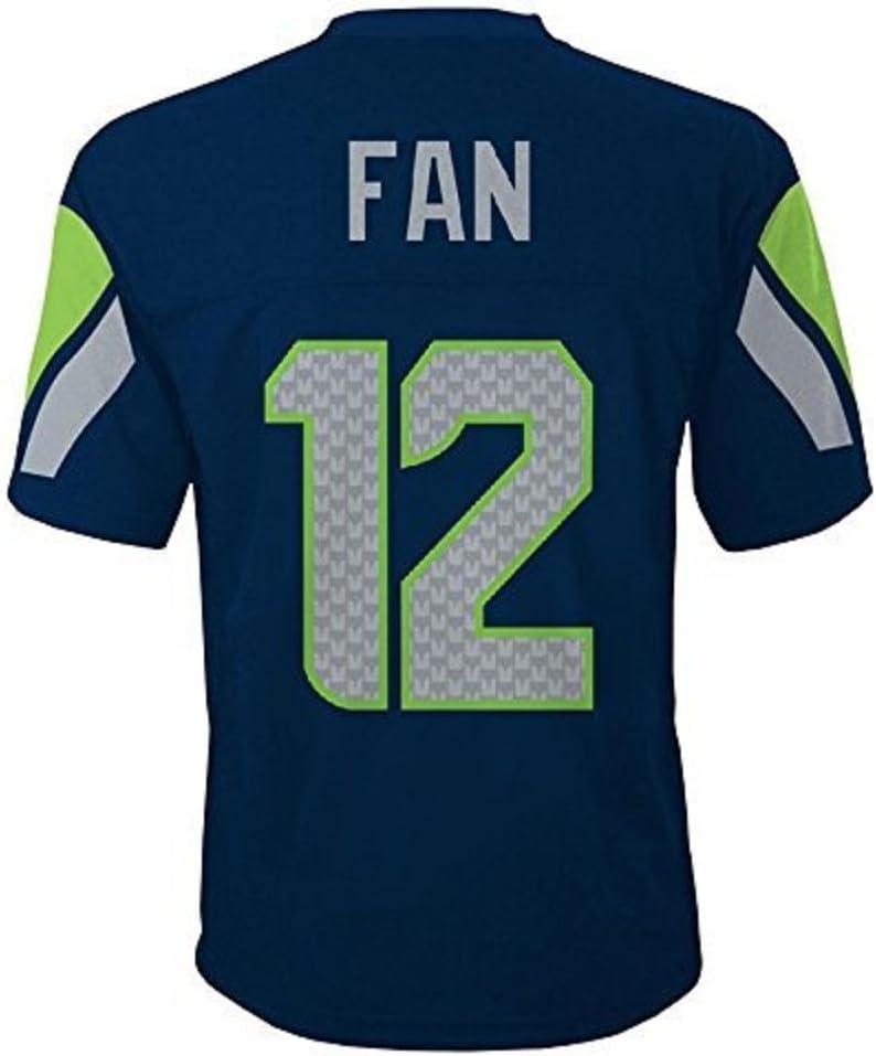 Outerstuff Seattle Seahawks 12th Fan NFL Youth Mid-Tier Team Jersey Navy