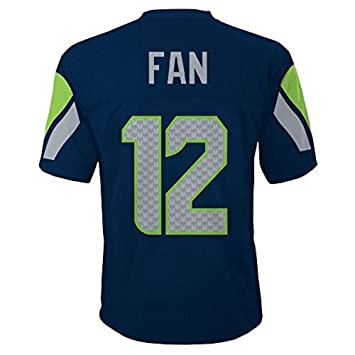 156f0ba8e82 Outerstuff Seattle Seahawks 12th Fan NFL Youth Mid-Tier Team Jersey Navy ( Youth Large
