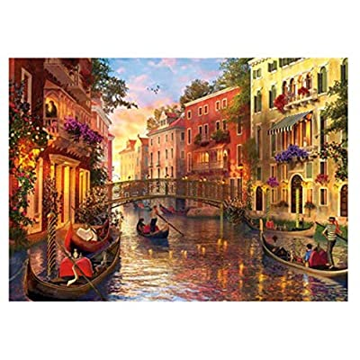 Puzzles for Adults 1000 Piece- Paper Jigsaw Puzzle Carboad Puzzles for Adults Kids Child Family- Rainbow Castle/Ice Prom: Toys & Games