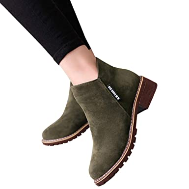 49a3c267205a Outtop(TM) Women Fashion Short Ankle Booties Lady Winter Leather Martain  Boots Shoes Sneakers