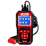 #1: OBD ii Auto Code Scanner KW850 Universal OBD II Vehicle Engine Diagnostic Codes Reader Full OBD2/ EOBD Function Scan Tool Check Engine Light Scanners for all OBDII &CAN Protocol Cars Since 1996