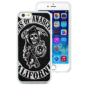 Hot Sale iPhone 6/iPhone 6S 4.7 Inch TPU Case ,Sons Of Anarchy Logo White iPhone 6/iPhone 6S Cover Unique And Popular Designed Phone Case