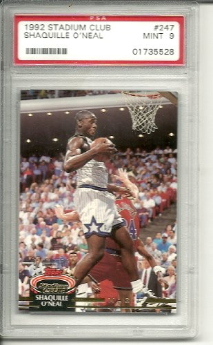 1992 stadium club shaquille o'neal rookie graded psa 9 from Stadium Club
