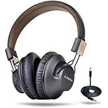 Avantree 40 hr Wireless Bluetooth 4.1 Over-the-Ear Foldable Headphones / Headset with Mic, APTX LOW LATENCY Fast Audio for TV PC Cell Phones, with NFC, Wired mode - Audition Pro [2-Year Warranty]
