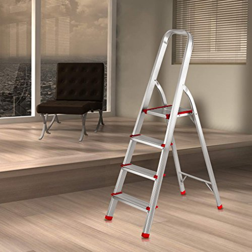 Small Aluminum Ladder : Finether portable folding aluminum step ladder with