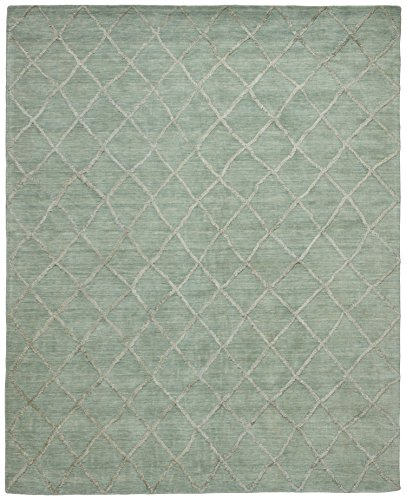 Stone & Beam Modern Textured Pattern Wool Rug, 8' x 10', Aqua by Stone & Beam