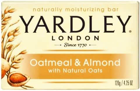 Yardley Oatmeal and Almond Bar Soap, 4.25 oz. (Pack of 24)