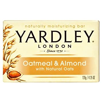 Yardley Oatmeal and Almond Bar Soap, 4.25 oz. Pack of 24