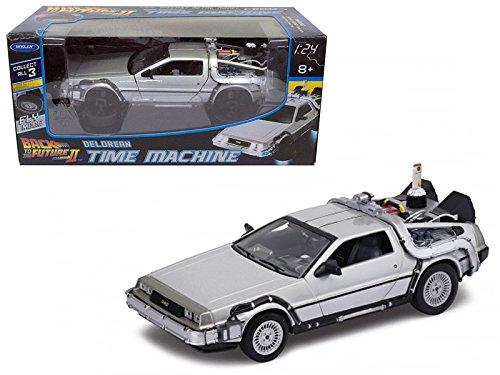 Welly 22499FV Delorean from movie Back To The Future 2 Flying Version 1/24 Diecast Car Model (Vehicle Delorean)