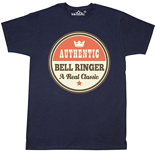 inktastic Bell Ringer Vintage Classic T-Shirt X-Large Navy Blue (Navy Classic Ringer T-shirt)