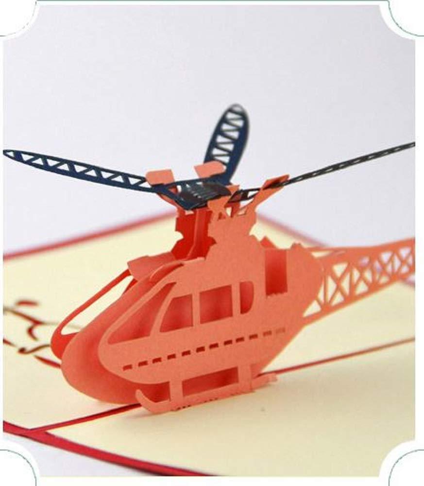 BC Worldwide Ltd Hecho a mano en 3D tarjeta de felicitación emergente cumpleaños Navidad año nuevo Día de San Valentín día del padre graduación del día de la madre, regalo de papercraft para el aeropl
