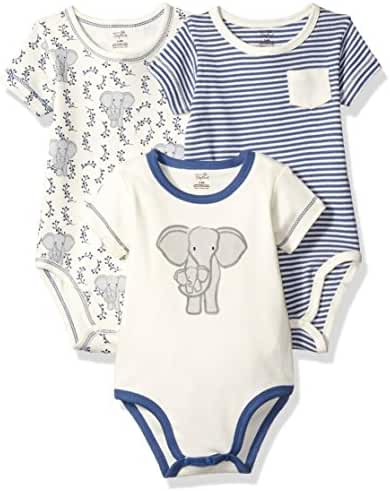 Touched by Nature Baby Organic Cotton Bodysuit 3-Pack