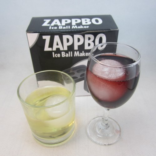 Zappbo® - 4 Huge Perfect Ice Balls Value For Money Best Silicone Ice Sphere Maker and Ice Ball Mold for Cocktail,Bourbon,Block,Bottle,Bullets,Candle,Diamond,Punch,Bowl,Scotch,Fred,Guitar,Gun,Luge,Plane,Plastic,Rectangle,Ring,Shot,Skull,Square,Trek,Wars,Swan,Titanic,Cooler,Woman,Stones,Rocks,Chiller,Sculpture,Stick,Coaster,Stainless,Steel,Soapstone,Beer,Muddler