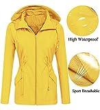 LOMON rain Jackets for Women Waterproof with Hood Hooded Lightweight Packable Plus Size