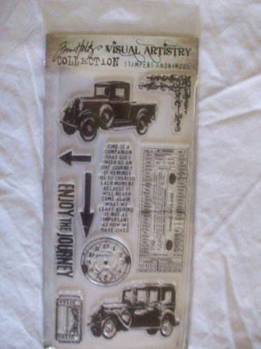 Tim Holtz Collection Stamper - Tim Holtz Visual Artistry Collection Stampers Anonymous Clear Stamps - The Journey