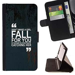 - Queen Pattern FOR LG Nexus 5 D820 D821 /La identificaci????n del cr????dito ranuras para tarjetas tir????n de la caja Cartera de cuero cubie - girl love quote marks text inspiri