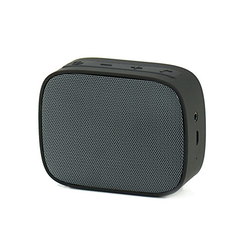 Mini Bluetooth Speaker, FACEVER Portable Wireless Speaker With Big Sound, Built-in Mic, Aux Cord, Strap-hook, Perfect For iPhone X 8 7, iPad, Samsung, Sony, Nexus, Laptops and More -Black