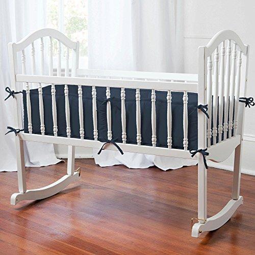 Carousel Designs Solid Navy Cradle Bumper