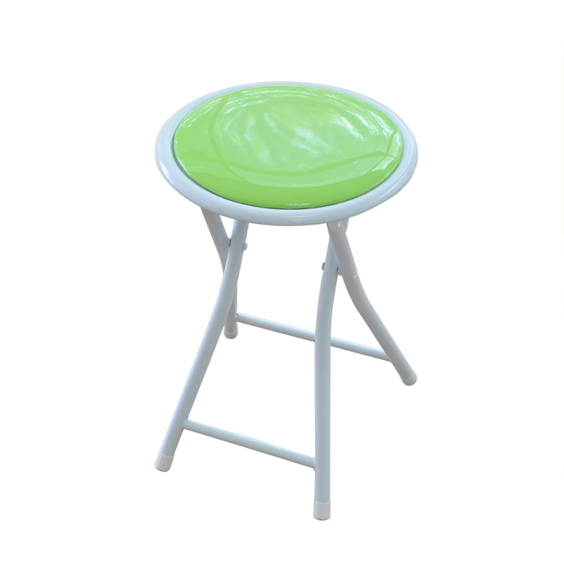 C XHLZDY Folding Chair, Dining Chair Folding Stool Portable Chair Small Round Bench (30×30×43cm) (color   B)