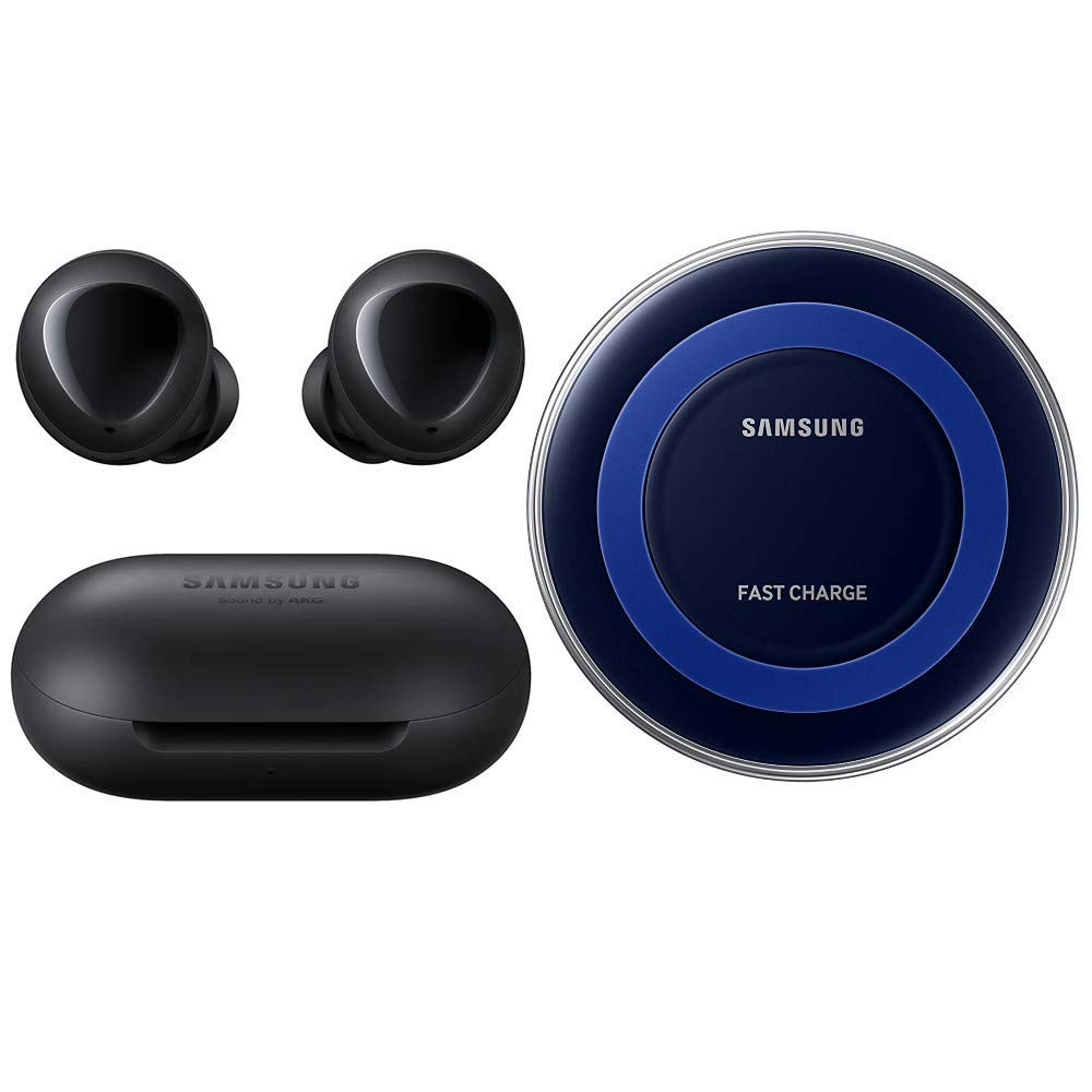 Samsung Galaxy Buds 2019 Bluetooth True Wireless Earbuds Wireless Charging Case Included Black International Version No Warranty Buds Fast Wireless Charging Pad Bundle Black Renewed Buy Online In Kuwait