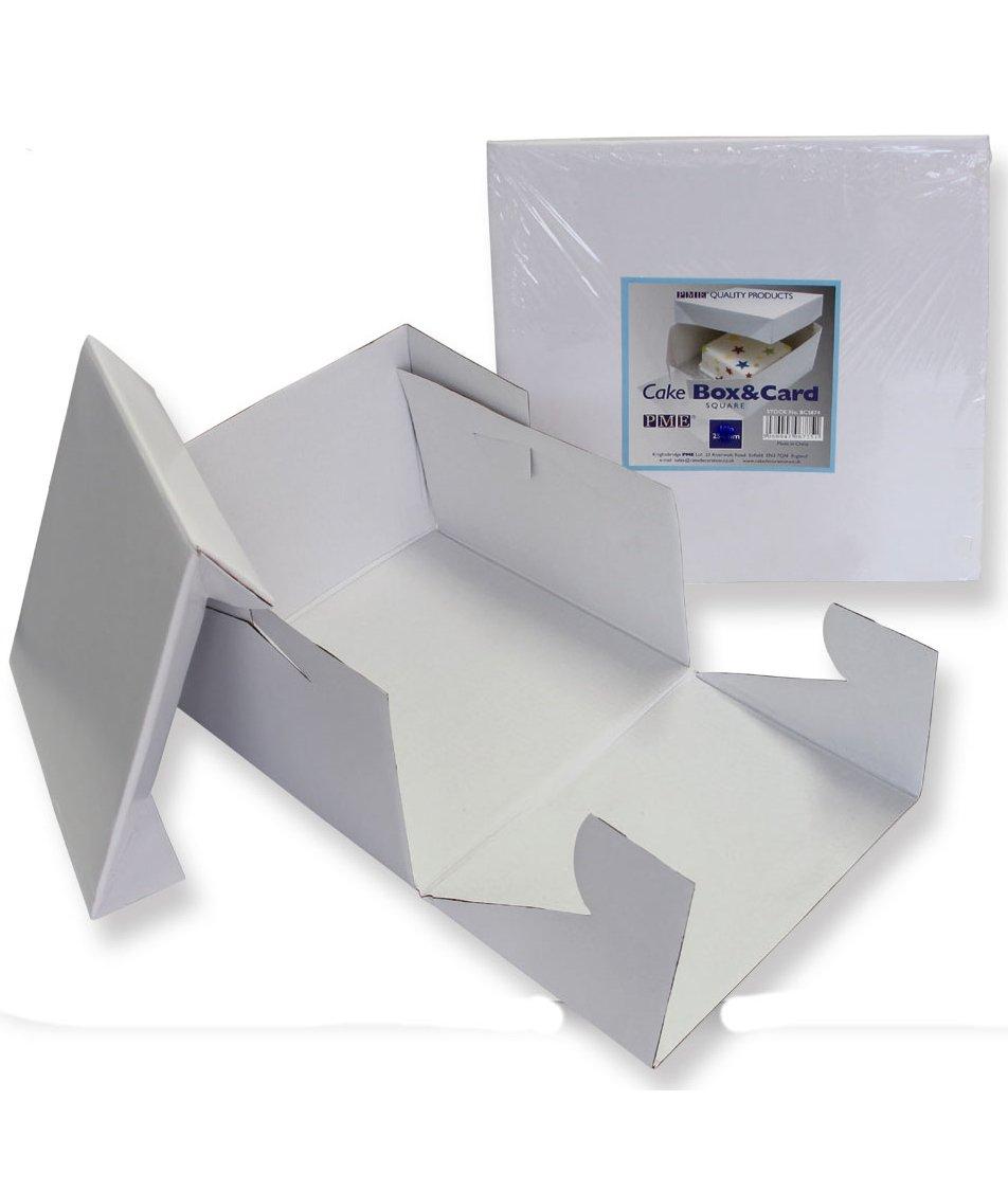 PME CBO809 15'' x 6'' Square Cake Box, Standard, White