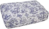 Harry Barker Toile Rectangle Bed - Blue - Large