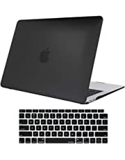 MacBook Air 13 Inch Case 2018 Release, ProCase Rubber Coated Hard Shell Case for MacBook Air 13-inch Model A1932 with Keyboard Skin Cover –Black