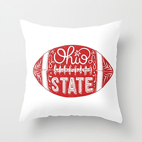 Ohio State Football Fashion Throw Pillow Cover with Acknowledged Cute Outlook for Sofa And Chairs ()
