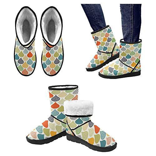 Scarponi Da Neve Womens Interestprint Stivali Invernali Comfort Dal Design Unico 26
