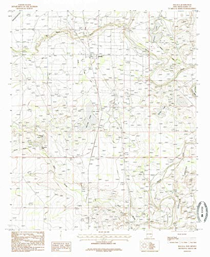 YellowMaps Malaga NM topo map, 1:24000 Scale, 7.5 X 7.5 Minute, Historical, 1985, Updated 1985, 26.8 x 22 in - Tyvek