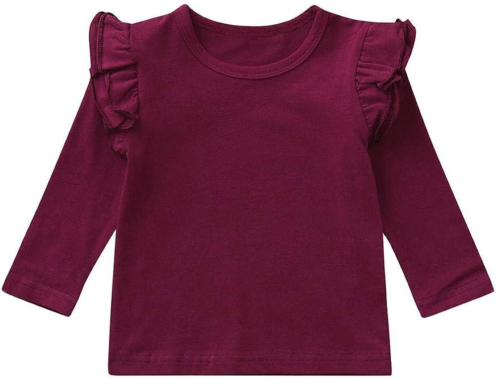 XXYsm Baby M/ädchen Langarmshirt Pullover Tops Oberteile Langarm T-Shirts Blusen