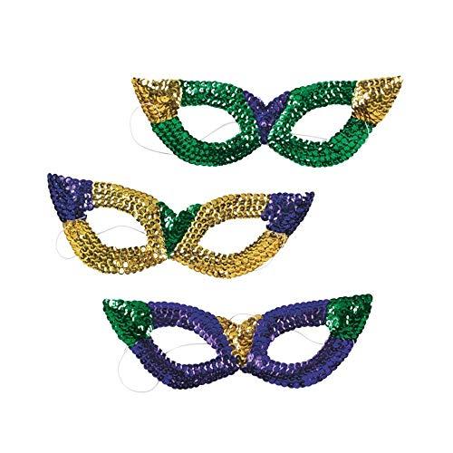Sequin Mardi Gras Sequin Masks
