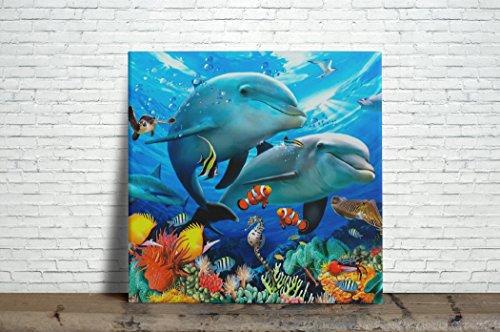Sea life Ceramic Tile 4.25 Inches Reproducction #1 by Art Printing Ceramic