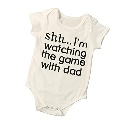 953f79657 Amazon.com  Infant Baby Boys Girls Romper Letters Printing Bodysuit ...